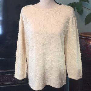 Talbots wool sweater ivory size M-XL